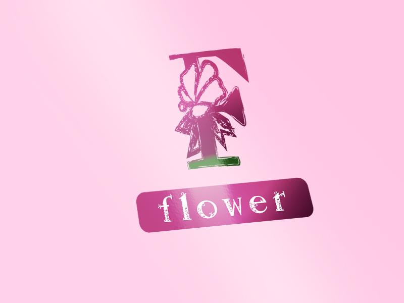 f typography logo vector creative pink logo typography typogaphy logo