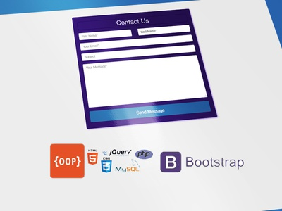 OOP Bootstrap contact form