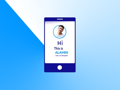 self promo (Alamin) userinterface ui design illustration uiux flower blue ps vector logo ai creative