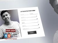 Bootstrap 4 OOP Registration System