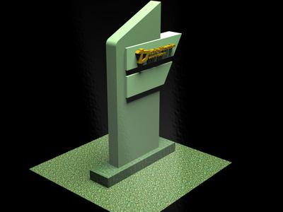 Simple Pylon Design for Saudi Buyer For Shop Corner