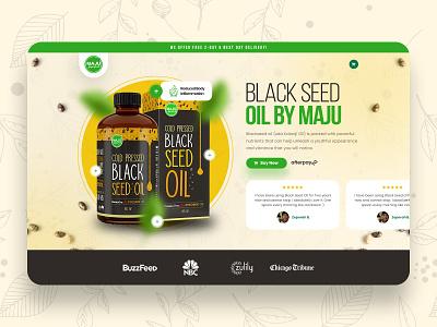Maju Super Food landing page design ux ui concept uiux uidesign website design landingpage webdesign