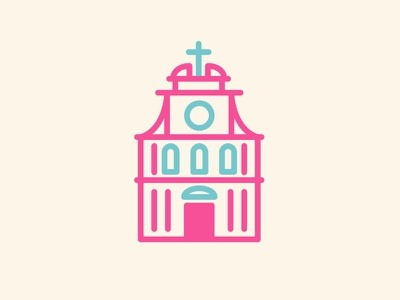 San Maurizio Curch logo vector illustration icon simple clean building flat 2d