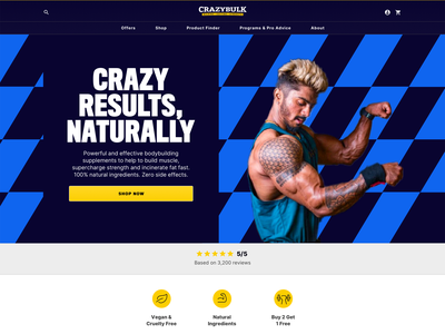 Home page supplements exercise website design