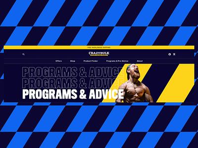 Blog supplements website design