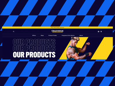 Our products supplements website design