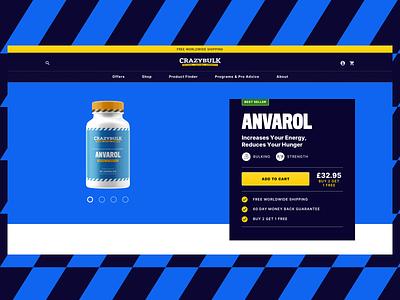 Product detail supplements website design