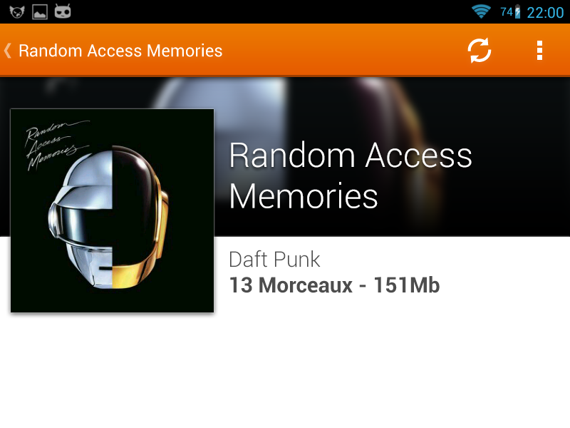 VLC for Android - Album View vlc android album view music daft punk