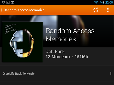 VLC for Android - Album View - Dark vlc android album view music daft punk