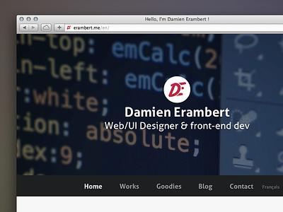 Erambert.me in English ! erambert.me portfolio personal website responsive jekyll sass i18n