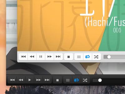 VLC on Yosemite : bottom bar vlc media player yosemite buttons mac osx