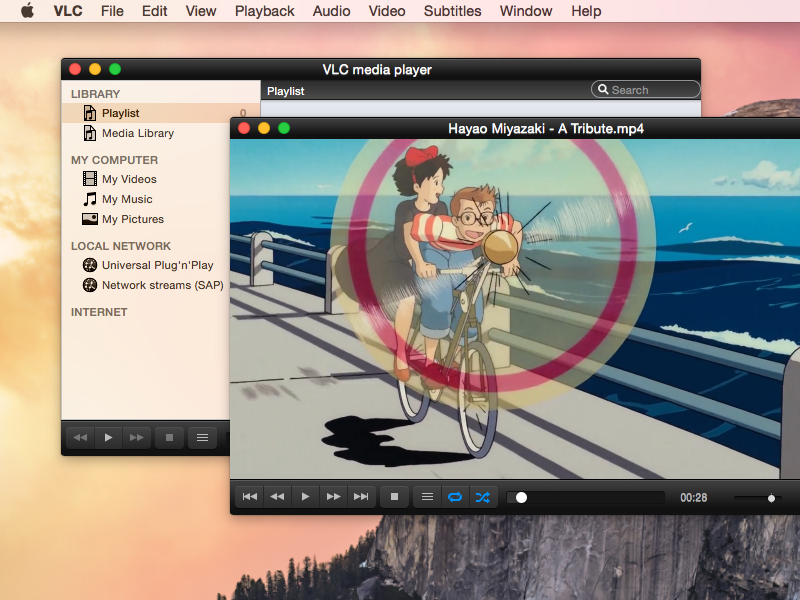 VLC on Yosemite : dark mode and sidebar icons vlc media player yosemite sidebar icons controller dark