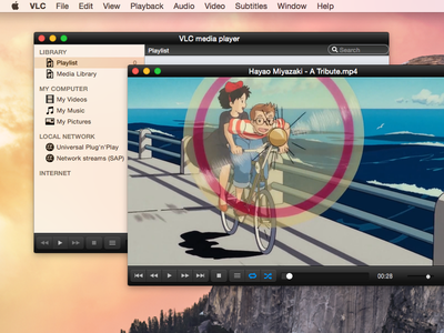 VLC on Yosemite : dark mode and sidebar icons vlc media player yosemite sidebar icons controller dark