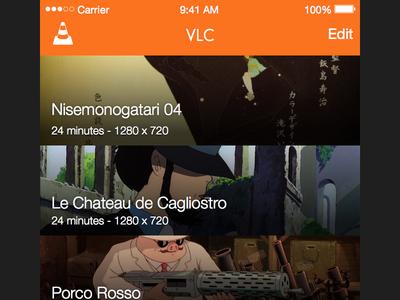 VLC iOS on Sketch sketch vlc media player ios