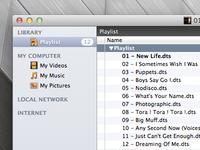 VLC Sidebar Icons