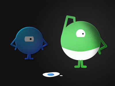 Oops! gif rigs shape layers vector creatures aftereffects 2d illustration animation