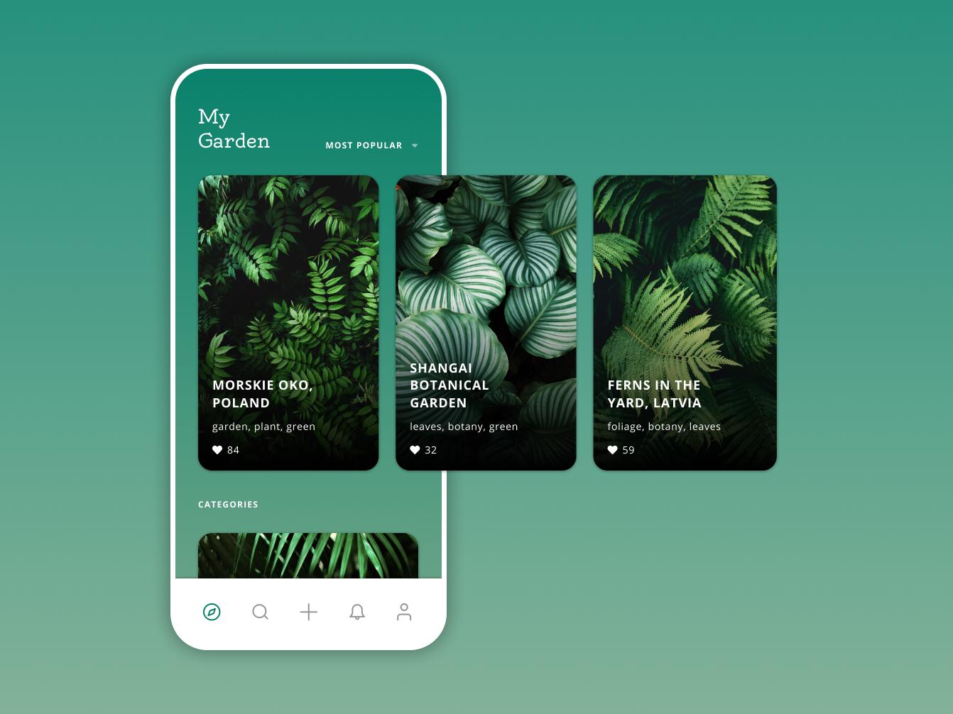 My Garden interface green app mobile garden plant green user inteface interface design ui