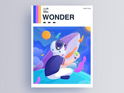 WONDER ui web design illustration flat