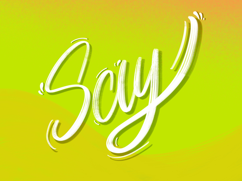 Say - Lettering* details gradient typography say letter words lettering