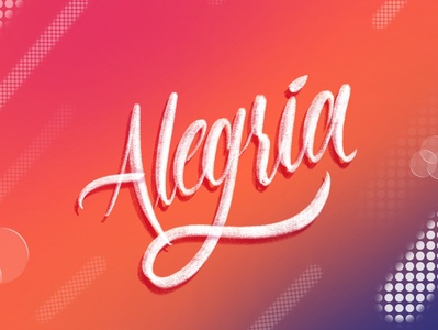 Alegría - Lettering