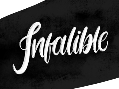 Infalible - Lettering