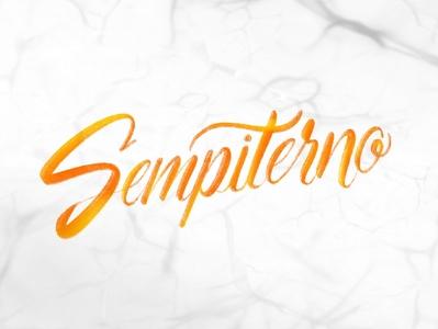 Sempiterno - Lettering