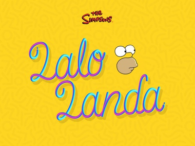 Lalo Landa - The Simpsons - Lettering