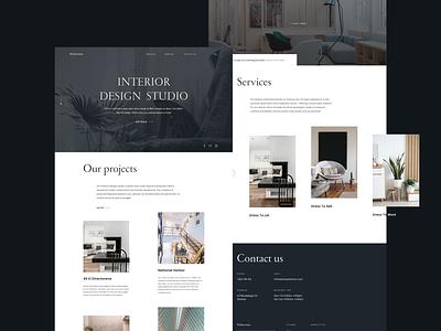 54 Interiors - Interior Design Studio dribbble ui ux interior architecture studio figma webdesign interior creative design