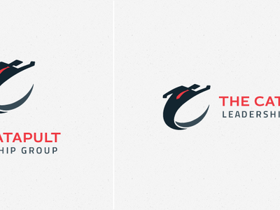 The Catapult Leadership Group Logo c catapult fly launch business man tie consulting corporate logo
