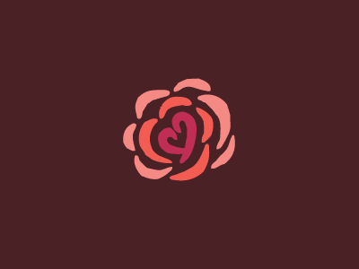 MP Logo Mark 3 (WIP) logo flower rose lingerie heart intimate apparel impressionism