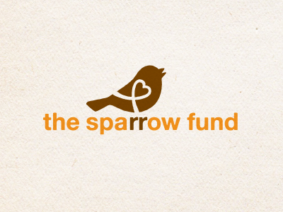 The Sparrow Fund Logo2 sparrow non-profit ribbon heart bird