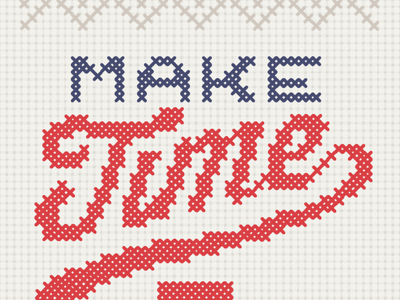 Make Time cross-stitch toresolveproject typography fun wallpaper