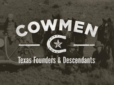Cowmen Logo logo vintage cowmen cowboy texas documentary film horse shoe star c