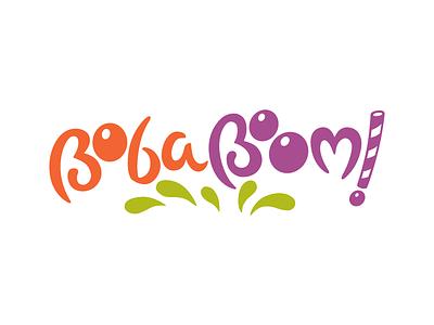 BobaBoom! Final Logo logo bubble tea straw food drink fun