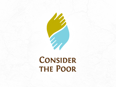 Consider The Poor - Logo Proposal hands poor logo two non-profit