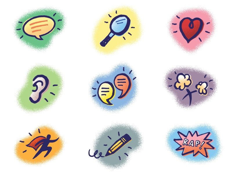 Kids' Prayer Covenant Icons icons hand-drawn fun kids book illustration