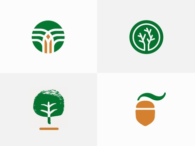 Trees and Acorn (Logo Options) generation growth security wealth planning wealth management total family acorn tree logo
