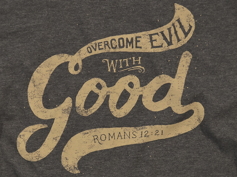 Good hand-drawn lettering apparel cause good christian t-shirt typography
