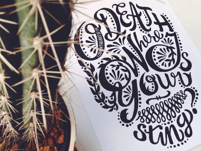 Flower Skull (WIP) skull sugar skull hand-drawn lettering apparel christian typography