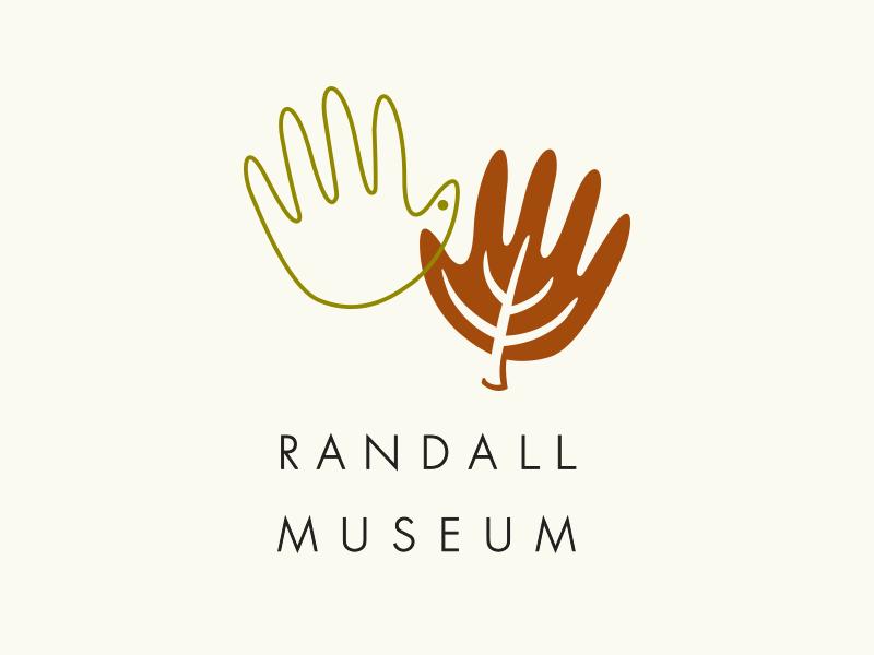 Randall Museum Logo nature discovery leaf bird museum children hands hand logo