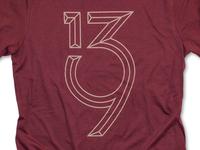 First Anniversary Tee numbers tshirt logo