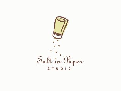 Salt in Paper Studio salt shaker paper brush drawing logo