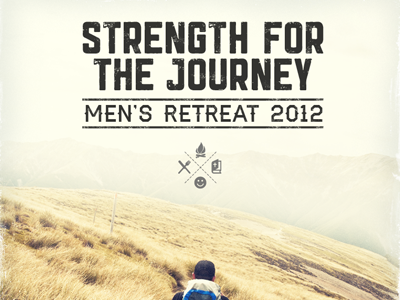 Men's Retreat Flyer flyer haymaker christian rugged
