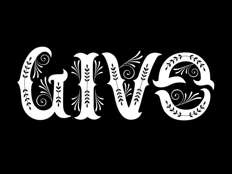Give-Gain Ambigram gain give sticker mule typography ambigram