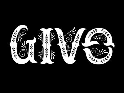 Give-Gain Ambigram gain give sticker mule typography ambigram