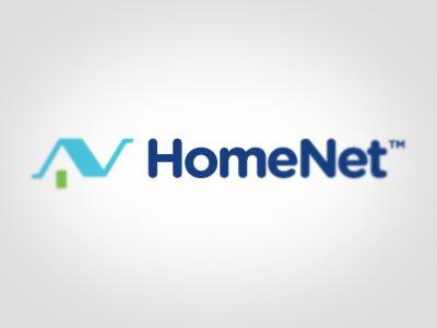 HomeNet Logo logo house n door network wireless router bandwidth