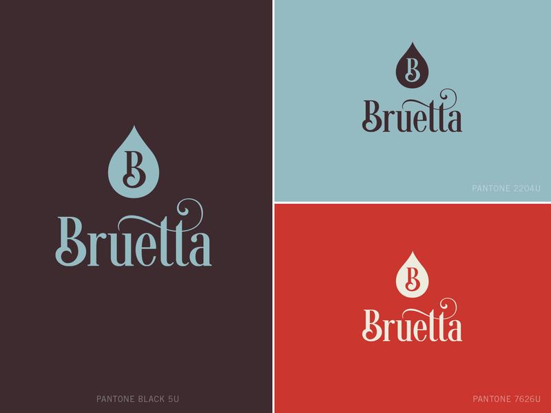 Bruetta Logo Design & Branding typography tea packaging design branding identity branding design logodesign logo