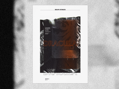 Dracula dracula typography noir branding glitch design editorial book art direction art