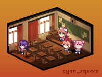 Doki Doki Literature Club lowpoly mock-up