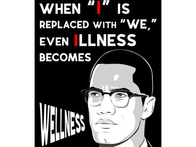 Malcolm X education schools illustration representation matters black excellence malcolm x black history month